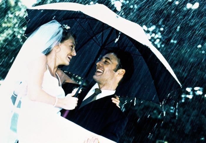 dež na poroki znaka
