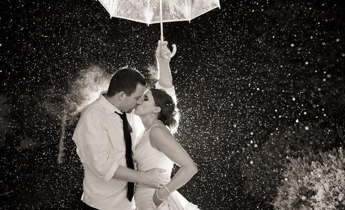 če dežuje za poroko