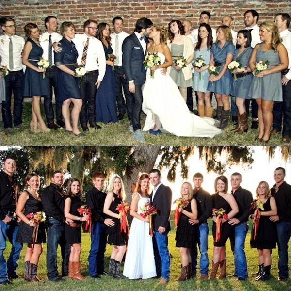 Jeans poročna fotografija