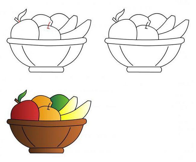 v fazah pripravi košarico s svinjo