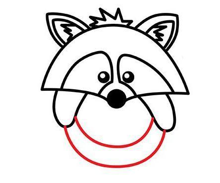 kako narediti raccoon korak za korakom