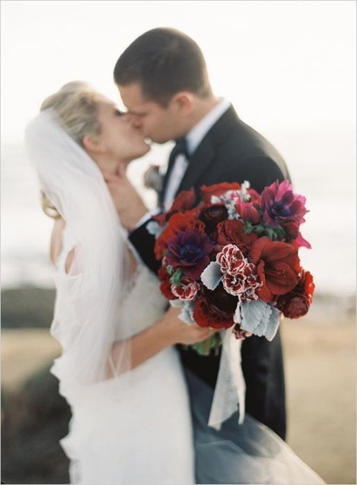 Etude v toplih barvah: poročni jesenski šopki
