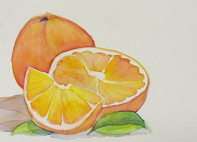 kako narisati oranžno