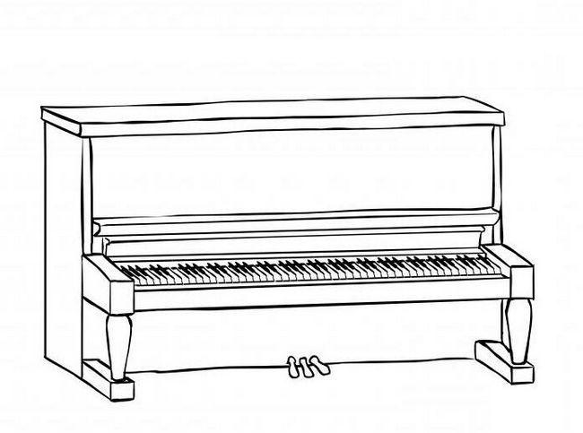 kako pripraviti klavir v svinčniku korak za korakom
