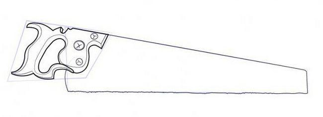 kako narediti žago v svinčniku korak za korakom