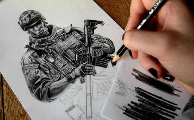 kako pripraviti vojaka v svinčniku korak za korakom