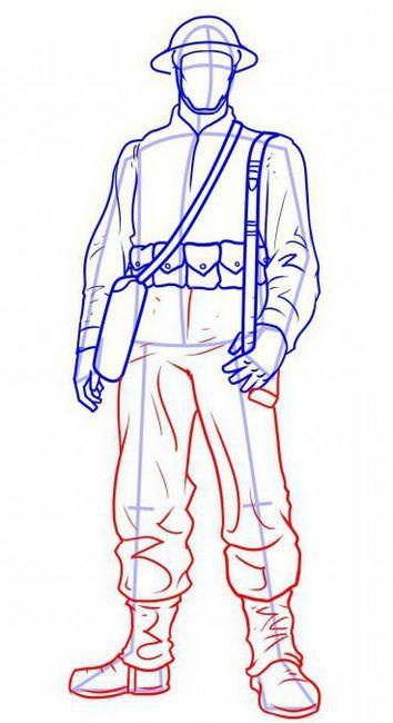 kako pripraviti vojaka v etapah