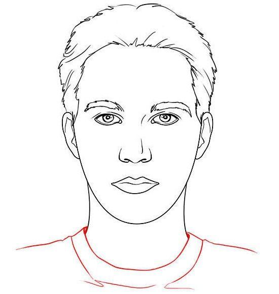 kako pravilno narisati obraz osebe