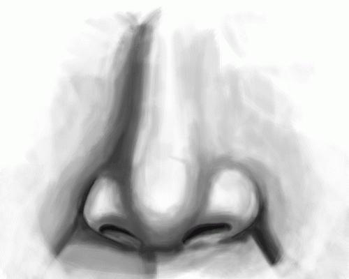 kako narisati nos s svinčnikom