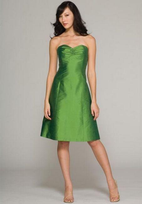 zelena obleka za poročno dekle
