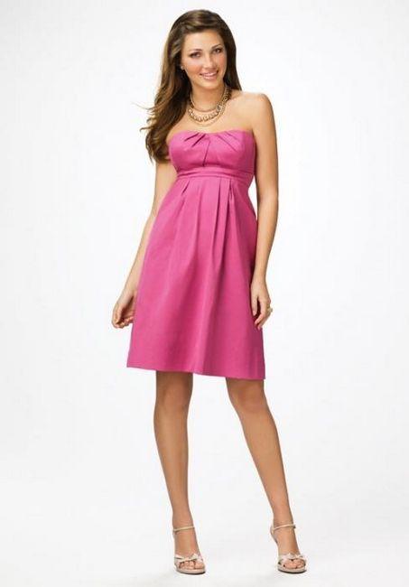 roza obleka za poročno dekle