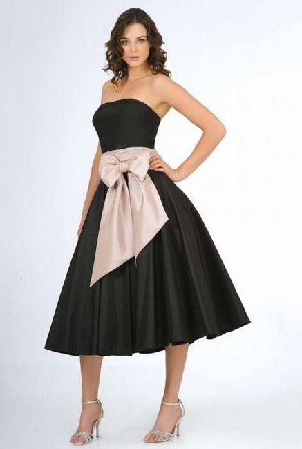 črna obleka za poroko