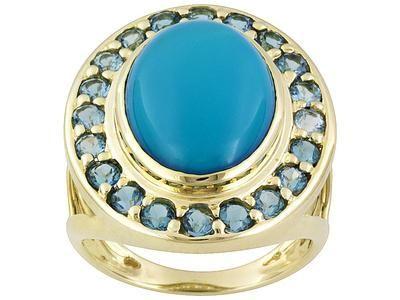 Ring z turkizno - simbol ljubezni, sreče in priznanja