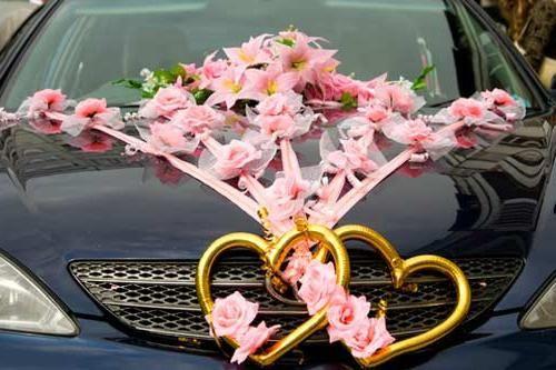 Avtomobilska dekoracija za poroko: nekaj priporočil