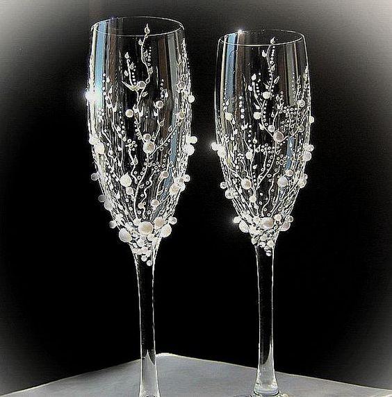 Registracija poročnih očal z lastnimi rokami: različice, mojstrski razred
