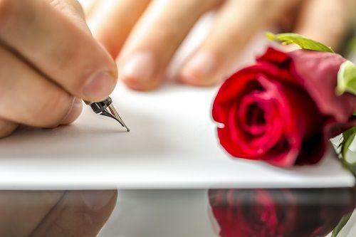 romantično pismo