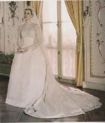 Celebrity poročna obleka