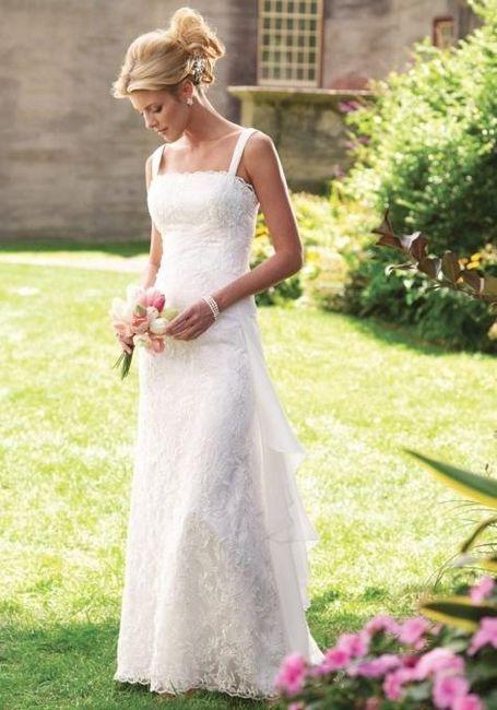 dekle v poročni obleki