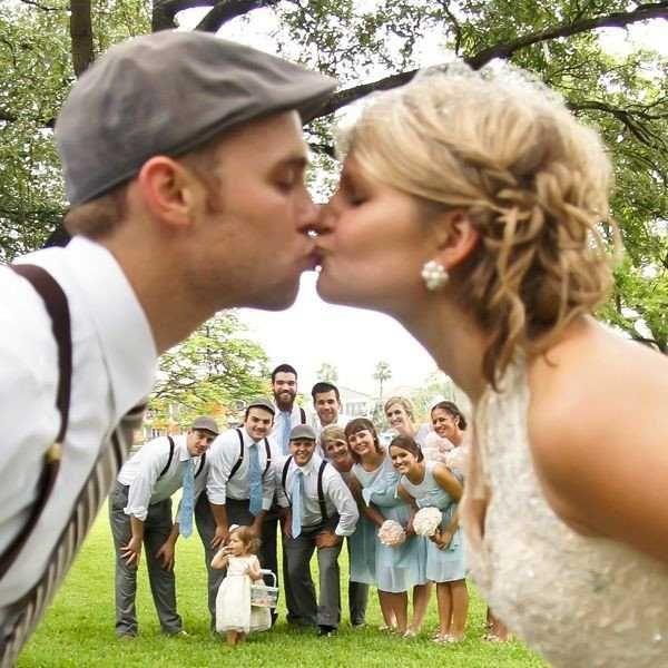 poljub neveste in ženina