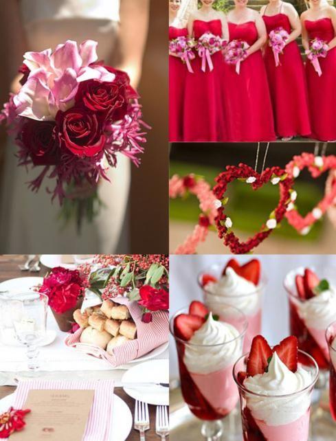 rdeči poročni slog