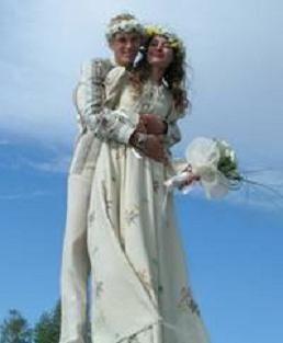 Dekor wedding v ruskem stilu