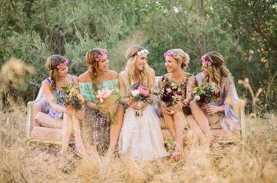 poroka v slogu boho chic fotografija
