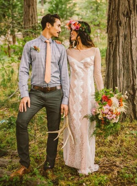 poročna obleka v slogu boho