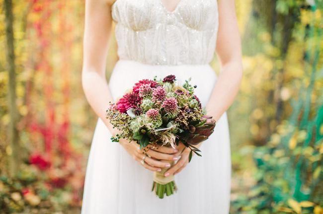 poročni šopek v slogu