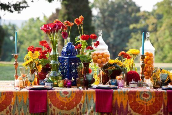 Poroka dekor v slogu boho