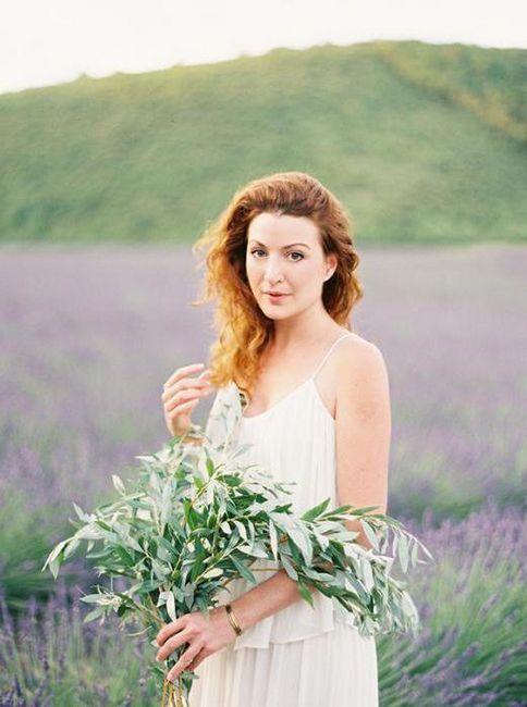 poročna obleka v slogu Provence