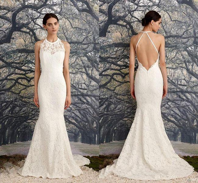 Poročne obleke z odprtim hrbtom: opis, fotografije najboljših modelov
