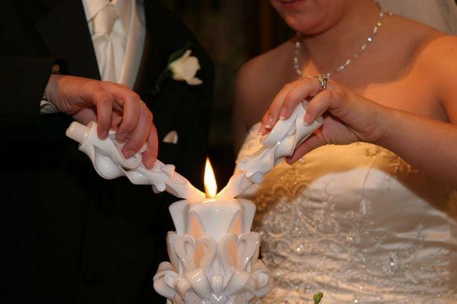 Poročne sveče z lastnimi rokami: fotografija