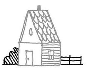 kako pripraviti hišo v svinčniku korak za korakom
