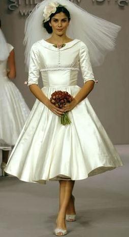 poročne obleke retro slog fotografija