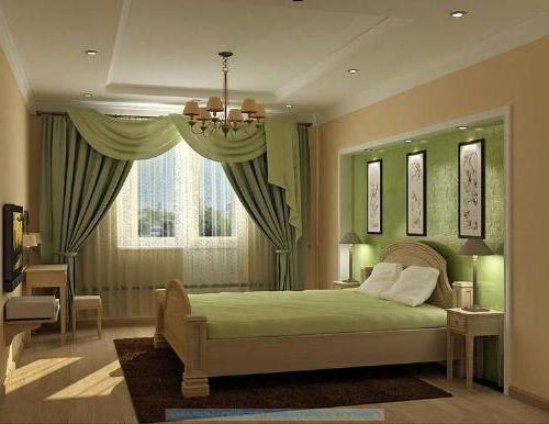 zavese in posteljna pregrinjala za spalnico